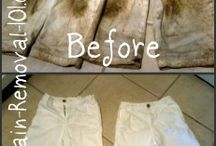 Stain removal on cloths / Stain removal