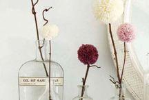Fleurs de pompons