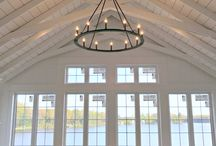Vaulted ceiling room