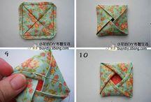 Origami tissu