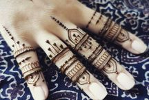 Fingers mehendi henna