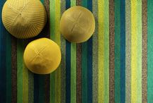 HAPPY / Happy is a woven rug of wool and linen, colourful and charismatic