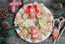 Christmas cookie art.¸.•´*¨`*•✿