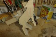 Cervo legno noce / Cervo scolpito a mano su legno noce,rifinito con cera neutra. www.intagliosulegno.com email: intagliosulegno@gmail.com