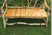 AAA driftwood bench