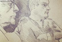 my work Watching the football #pencil #sketch #drawing @blackwing