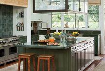 Celebrities' kitchens designs.