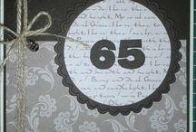 65 jaar kaarten