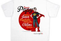 Cadeau Fête des grands-pères / T-shirt SUPER PAPAY