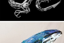 Esculturas feito de utensílios de cozinha