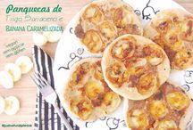 Panquecas de Trigo Sarraceno e Banana Caramelizada / Receita inspirada nas famosas panquecas da Samanta McMurrey do Eat Love, numa versão vegan...Deliciosas! Vegan, sem glúten, sem açúcar, sem gordura adicionada.