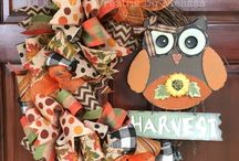 fall wreaths / by Vanessa Olivo