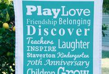 Best Schools / Kindergartens / Pre Schools / Play Groups Tea Towels / Schools and child care projects printed onto a tea towel