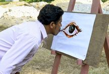 The Indian painter who paints with his tongue