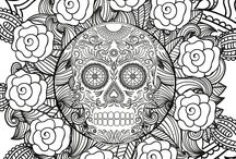 Halloween Adult Colouring