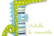 Crocodiles tissu