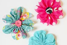 fabric flowers and diy