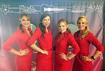Virgin Air Fly Girls Love LipSense / Virgin Air Promo Team and other Virgin Air flight attendants LOVE Blu-Red & Fly Girl Red LipSense! Blu-Red & Fly Girl LipSense looks beautiful on every woman! It stays on, doesn't dry your lips, won't bleed or feather and looks sexy too! www.LiquidMakeup.com