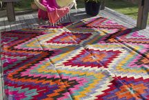 Colourful kilims and rugs