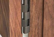Architectural door hardware - hinge finishes / Moddica concealed hinge leaf system