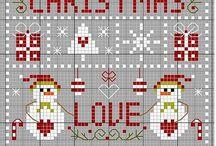 christmas cross stitch - karácsonyi keresztszemes
