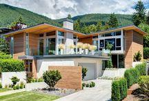 Дом на склоне