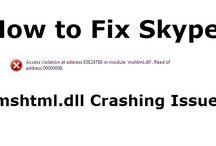 How to Fix Skype mshtml.dll Crashing Issue