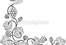 виноград рисунок