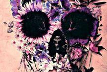 Cráneo de flores