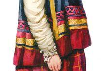 Национальный костюм в рисунках