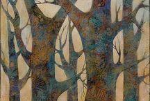 Sue Davis цветы листья птицы