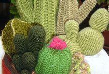 horgolt kaktuszok, crochet cactus / horgolt kaktuszok, crochet cactus, knitted cactus