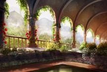 gardens, architecture