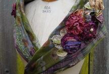 шаль цветы