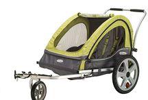 Double bike trailer for kids