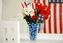 Patriotic Decorating Ideas / DIY Americana themed Craft Ideas for Fourth of July or Memorial Day