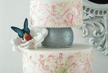 Casamentos Românticos bolo de casamento