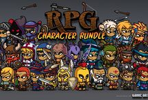 2D Character Game Art / Mostly just royalty-free 2D game art characters or sprites  featured at.... GameArtPartners.com
