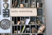 Organize It / Organize by using all sorts of items from shelves, trays, boxes, jars, etc. / by Shepherd's Needle