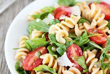 Pasta dishes  & Salads   Recipes.