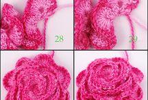 Crochet bloemen