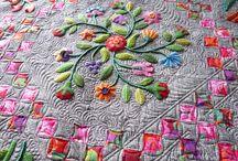 Wool appliqué quilt / Amazing design