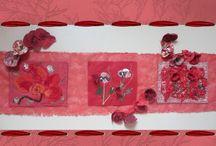 Art textile / Mes tableaux art textile