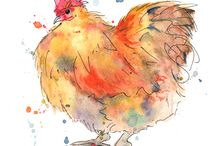 Art-Chickens