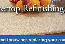 Countertop Refinishing / No need to replace your countertops when Miracle Method can make them look beautiful. Check out our Natural Accents stone finish look.