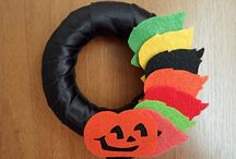 Felt Halloween Garland,Ornament and Wreath / halloween