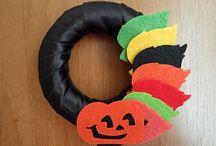 Felt Halloween Garland,Ornament and Wreath / halloween