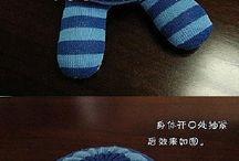 muñeco-calcetín
