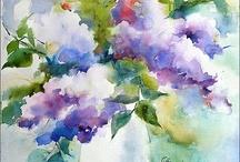 Akwarele - kwiaty