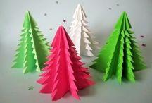Weihnachts Papierfalten